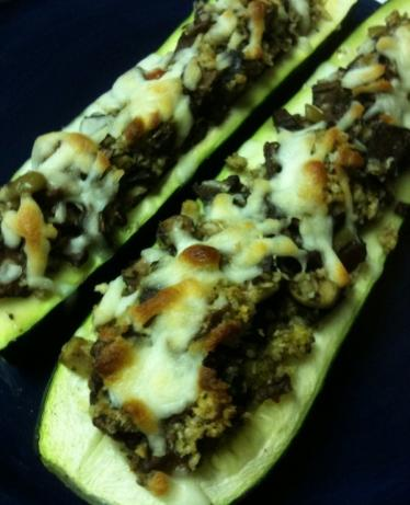 Round 2  - Stuffed Zucchini Boats. Photo by Greeny4444