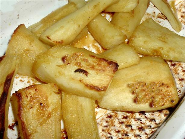 Mustard and Honey Glazed Parsnips. Photo by Bergy