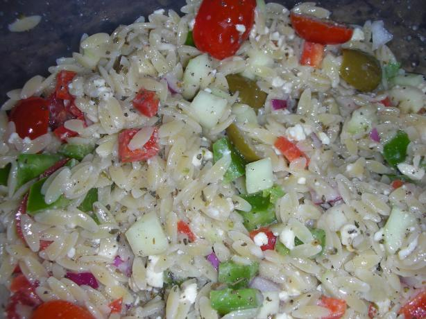 Greek Orzo Pasta Salad. Photo by JackieOhNo!