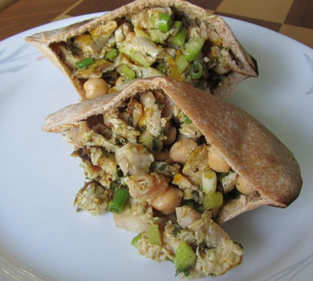 Greek Chickpea &amp; Tuna Pitas. Photo by Rita~