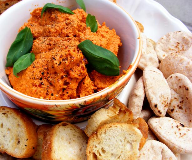 Muhammara (Roasted Red Pepper and Walnut Spread). Photo by Kozmic Blues