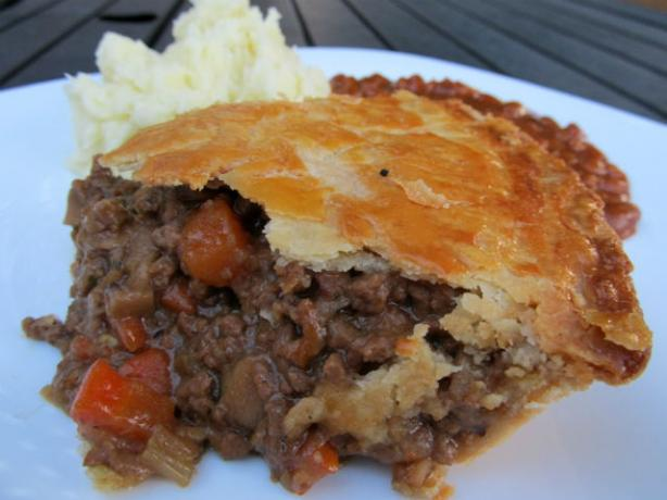 British Beef and Onion Pie. Photo by K9 Owned