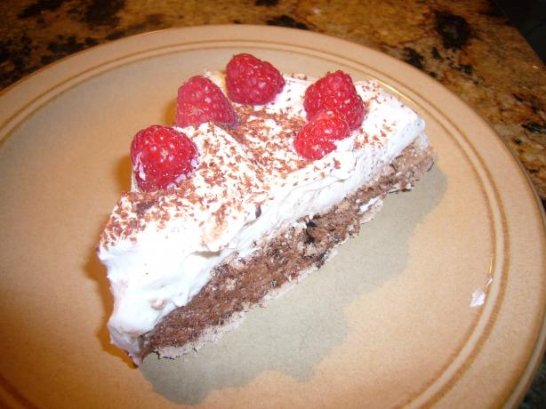 Chocolate Pavlova With Raspberries and Cream. Photo by Cupcake-Princess