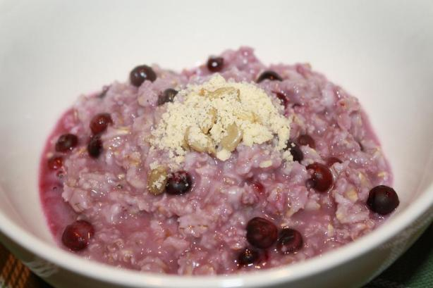 Creamy Blueberry Porridge. Photo by Pink_Diamond