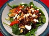 Spinach Salad With Oranges, Dried Cherries, and Candied Pecans
