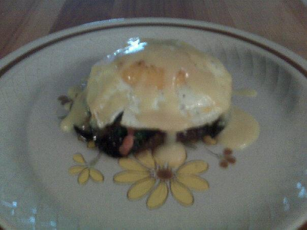 Grilled Portabellas Benedict. Photo by zmanraikes