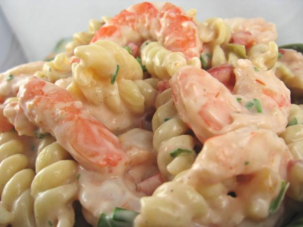 Shrimp Louis Pasta Salad. Photo by Kathy at Food.com
