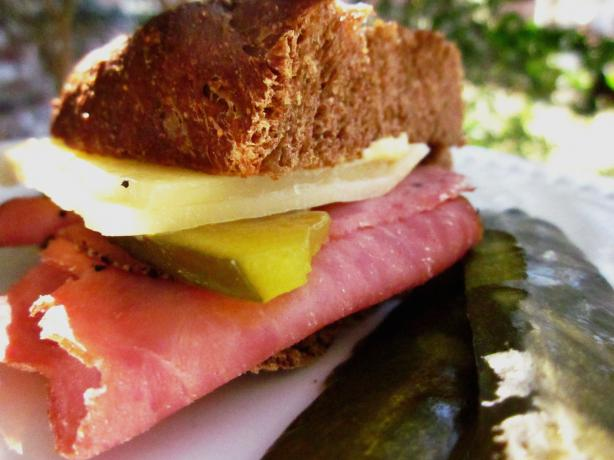 Pastrami and Pickle Pan-Fried Sandwich. Photo by gailanng