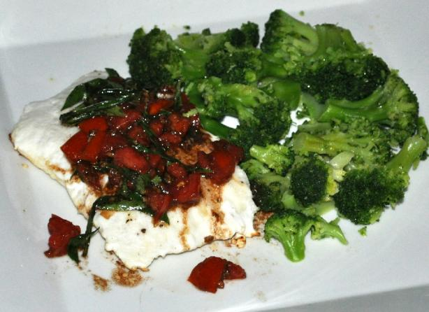 Grilled Halibut With Tomato-Basil Salsa. Photo by KateL