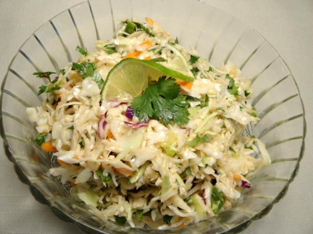 Mexican Coleslaw With Spicy Lime Vinaigrette. Photo by Debbwl