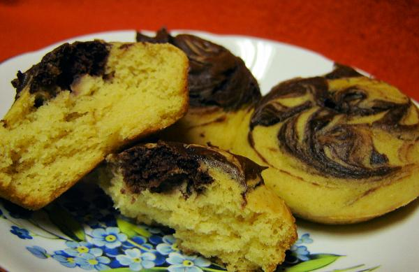 Chocolate Pumpkin Muffins. Photo by Saturn