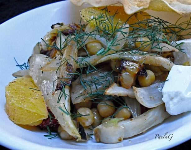 Roasted Fennel With Chickpeas. Photo by PaulaG
