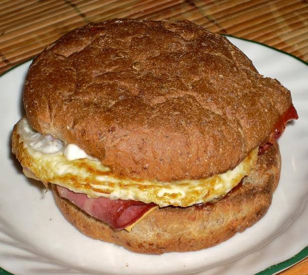 Breakfast Sandwich for One. Photo by Chef Joey Z.