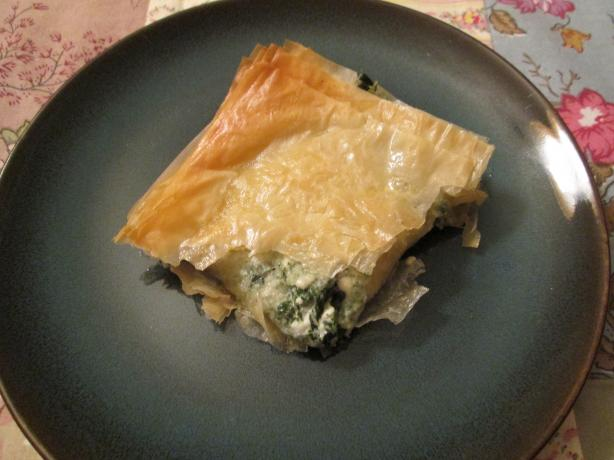Greek Spinach Pie (Spanikopita). Photo by Nancy's Pantry