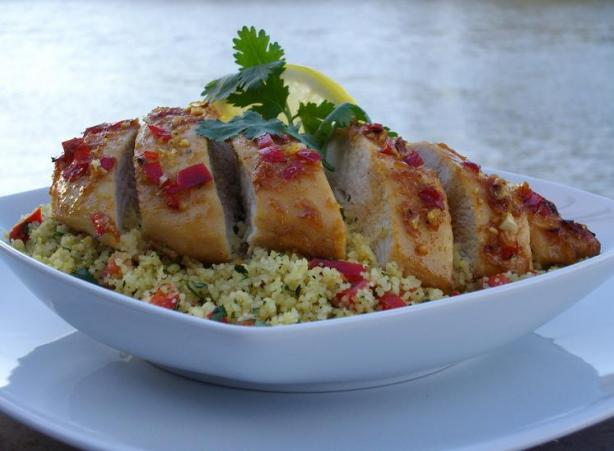Lemon Garlic Chicken With Coriander. Photo by The Flying Chef