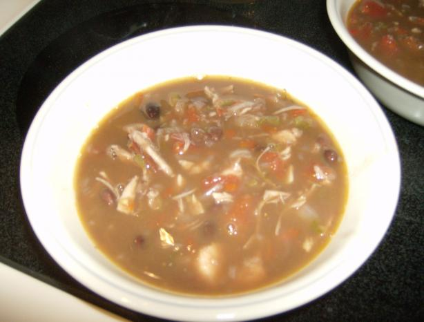 Southwest Chicken Black Bean Soup. Photo by mMadness97