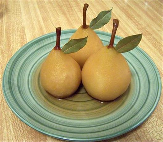 Poached Pears in Sauternes. Photo by CookRachacha