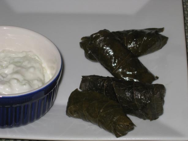 Dolmas-Grape Leaves Stuffed With Fragrant Rice. Photo by FrenchBunny