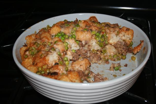 Tater Tots and Ground Beef Casserole. Photo by Viclynn