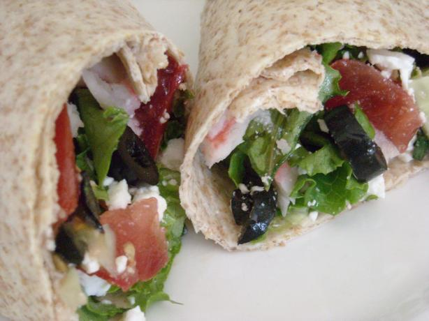 Greek Veggie Wrap (South Beach Diet Phase 2). Photo by mums the word