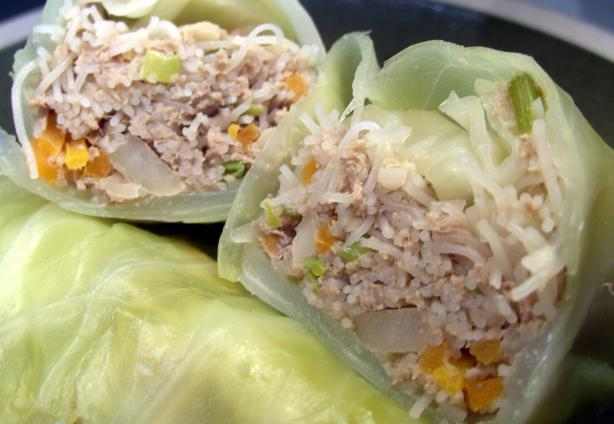 Asian Style Cabbage Rolls. Photo by JustJanS