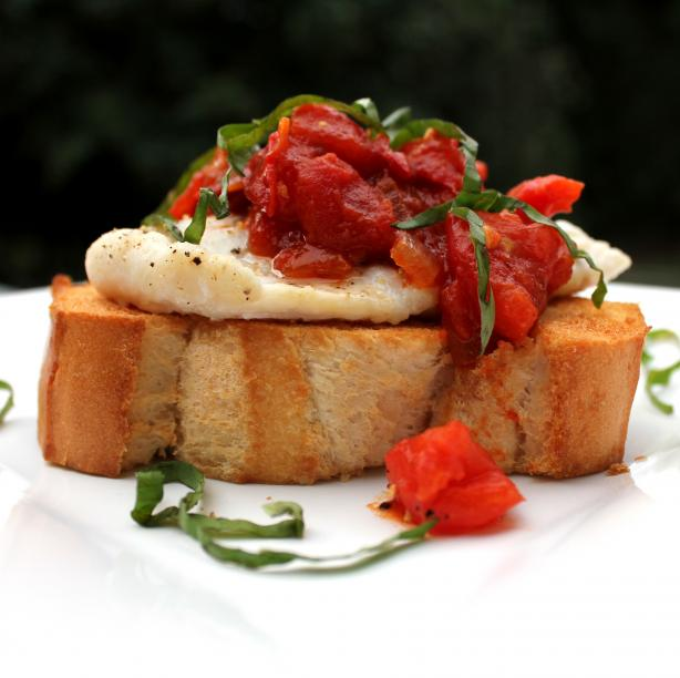Roasted Fish Bruschetta. Photo by spicyperspective