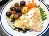 Lemon and Basil Salmon With Goat's Cheese Sauce
