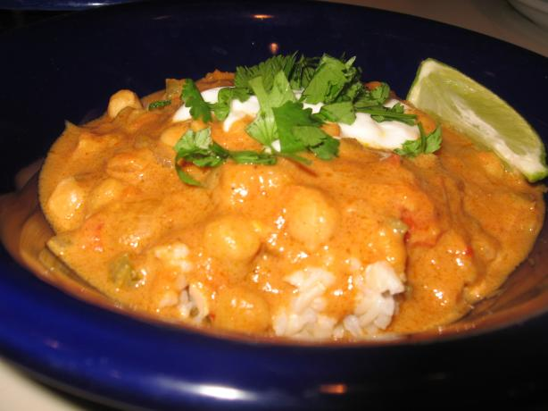 Vegetarian Peanut Curry (African Inspired). Photo by Engrossed