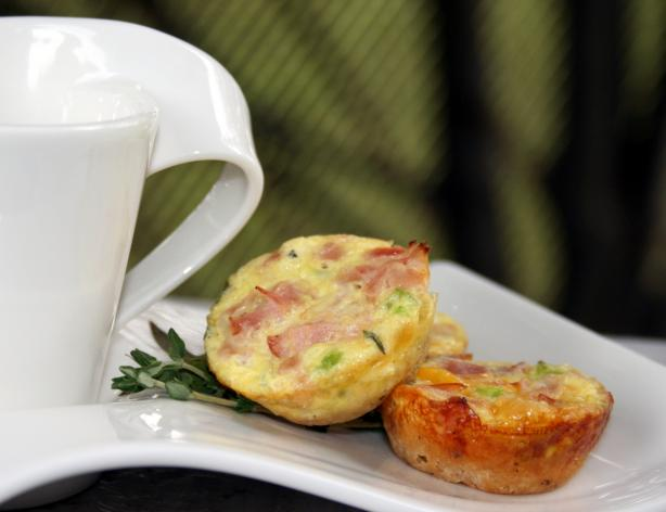 Gluten Free Ham &amp; Cheese Quiche Bites. Photo by **Tinkerbell**