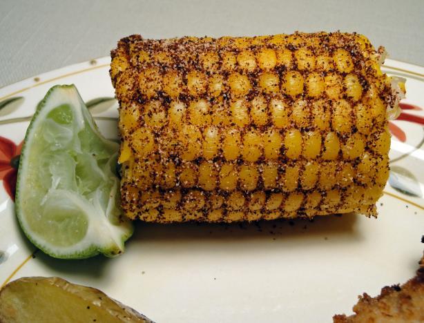 Chili-Lime Rubbed Indian Corn on the Cob. Photo by Debbwl