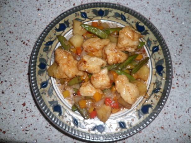 Sweet and Sour Chicken (or Pork). Photo by Cookin' for 3