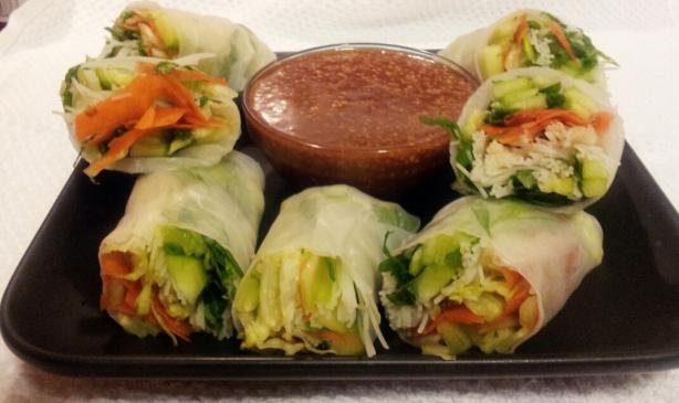 Vegetarian Fresh Spring Rolls. Photo by Wendelina