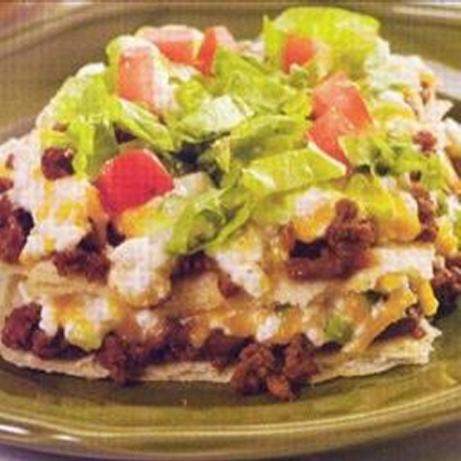 Layered Taco Casserole. Photo by Recipe USA