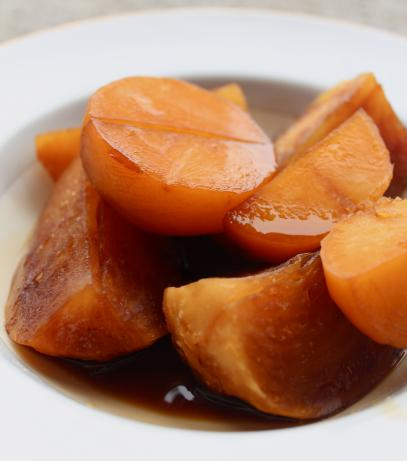 Turnips/Rutabaga Simmered in Date Syrup (Maye&#39; Al-Shalgham). Photo by Cookgirl