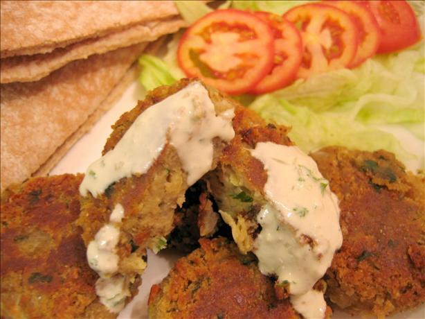 Falafel With Tahini and Cilantro Sauces. Photo by eatrealfood