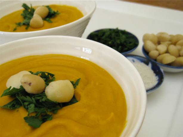 Creamy Vegan Roasted Sweet Potato Soup. Photo by The Blender Girl