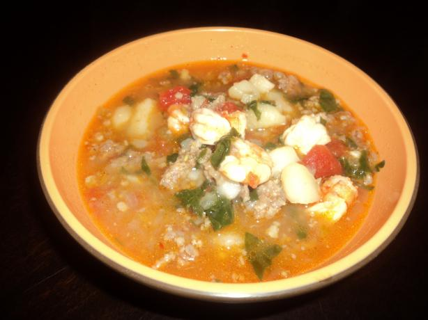 Italian Sausage and Shrimp Soup. Photo by LynnAlex