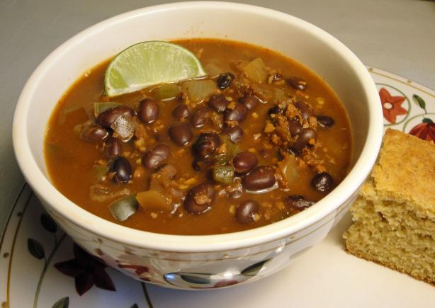 Chorizo Black Bean Soup. Photo by Debbwl