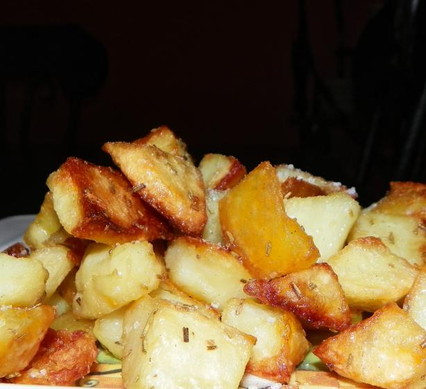 Crunchy Rosemary Potatoes. Photo by Baby Kato