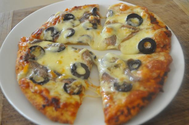 Anchovy Pizza Recipe http://www.food.com/recipe/quick-pizza-with-olives-and-anchovies-445262