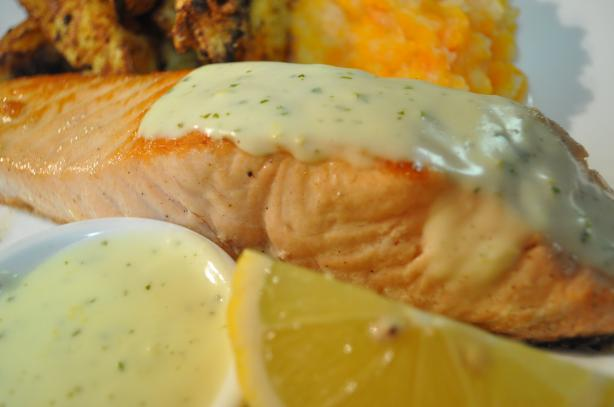Salmon With a Creamy Lemon Mustard Sauce. Photo by I'mPat