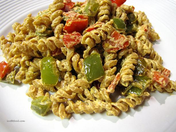 Bell Pepper Cream Cheese Pasta. Photo by loof