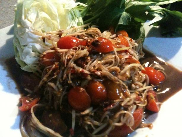 Lao Papaya Salad. Photo by saolao