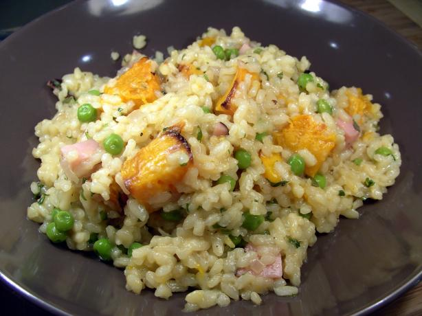 Ham, Pumpkin and Pea Risotto. Photo by JustJanS