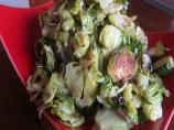 Roasted Sliced Brussels Sprouts With Garlic