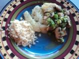 Pan Seared Fish With Mushrooms and Scallions