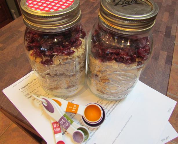 Oatmeal Cranberry Cookie Mix. Photo by BakinBaby