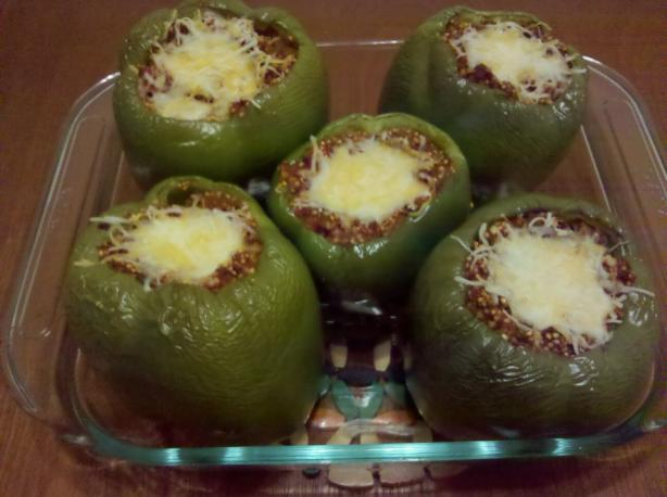 Healthy Quinoa and Ground Turkey Stuffed Peppers. Photo by vicious_villain