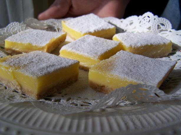 Very Lemon Extra Tangy Lemon Bars. Photo by Chef PotPie