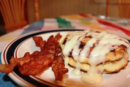 Cinnamon Roll Pancakes. Photo by ForeverMama